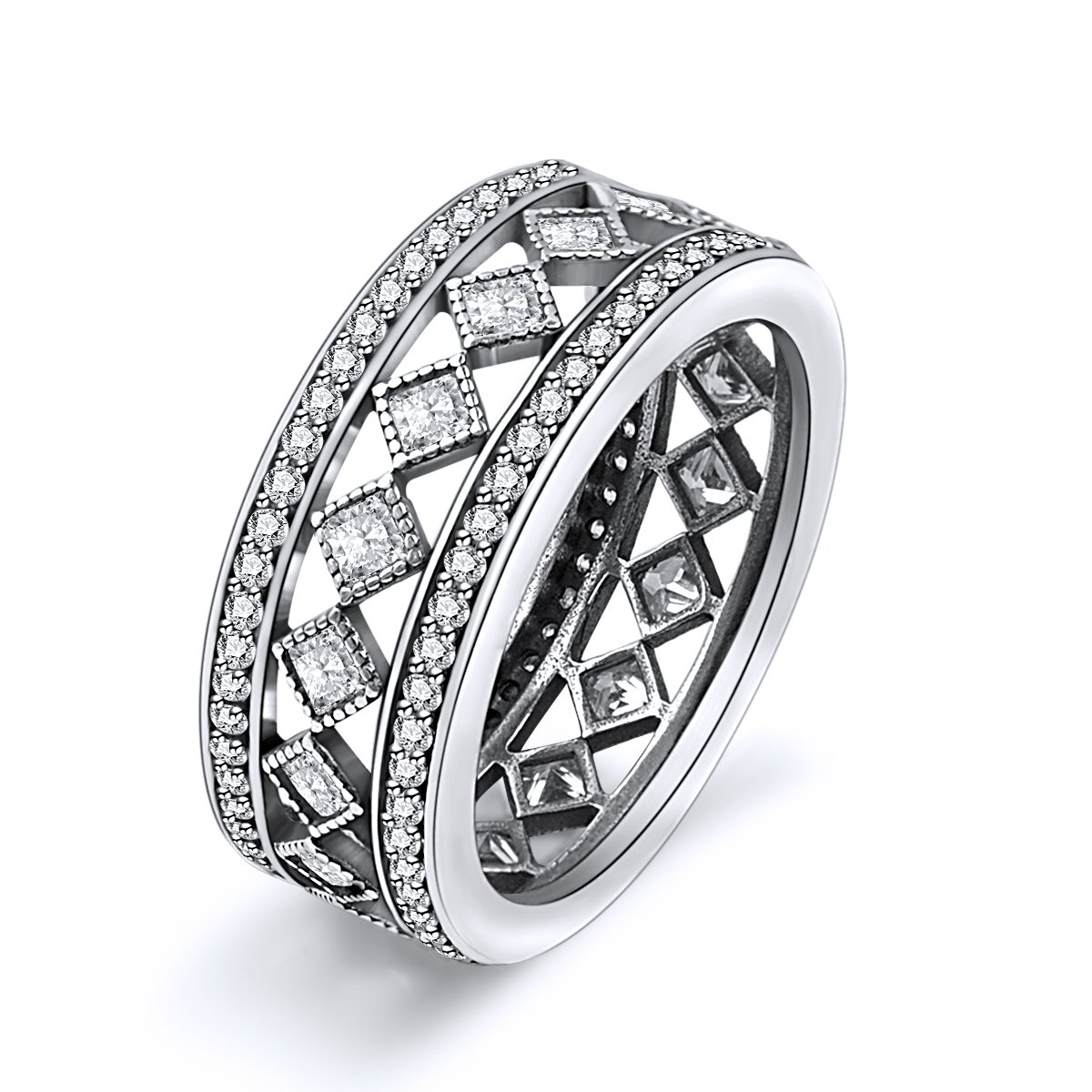 Twenty Plus Vintage Fascination Ring with Clear CZ Gifts for Women & Girls
