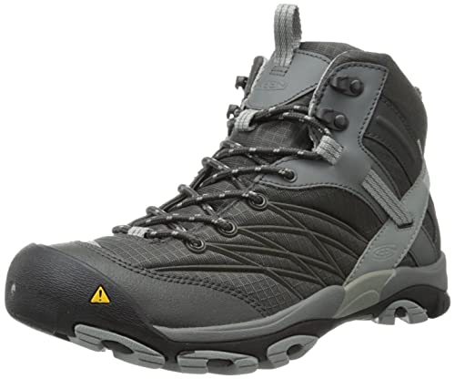 ce95c0bb8be KEEN Men's Marshall Mid Waterproof Hiking Boot,Raven/Neutral Gray,8 ...
