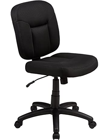 387c195322d7 AmazonBasics Low-Back Task Chair with Swivel Casters - Black