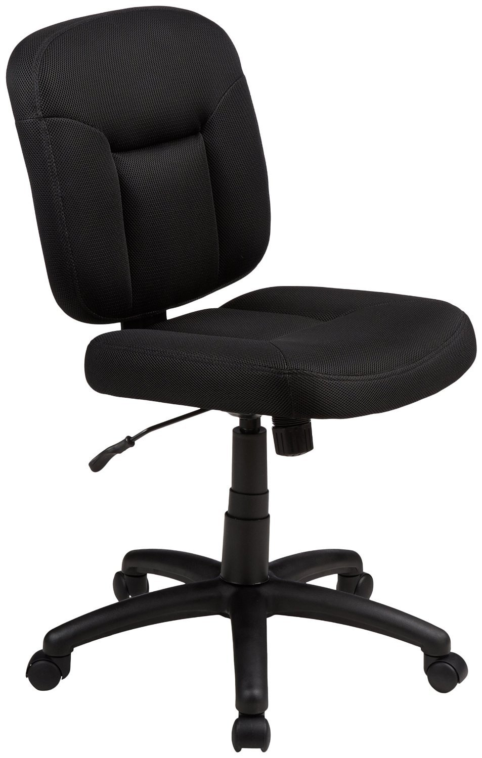 AmazonBasics Low-Back Task Chair with Swivel Casters - Black