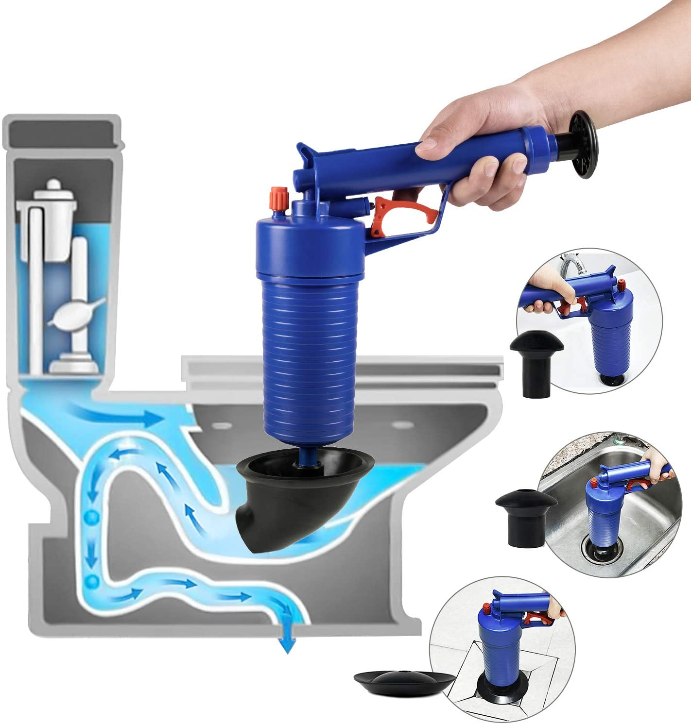 ETERNA Air Drain Blaster, Sink Plunger, Air Power Toilet Plunger ...