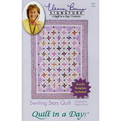 Amazon Com Quilt In A Day Eleanor Burns Patterns Swirling Stars