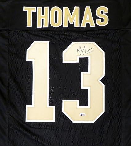 100% authentic 300e7 7c0fb New Orleans Saints Michael Thomas Autographed Black Jersey ...