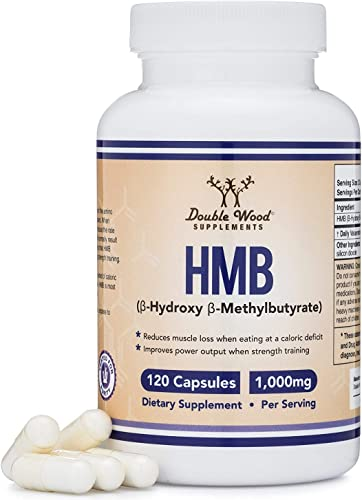 HMB Supplement, Third Party Tested, for Muscle Recovery, Growth, and Retention Protein Synthesis – Made in USA, 120 Capsules, 1000mg Per Serving
