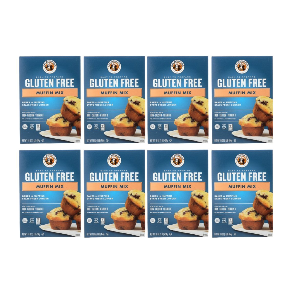 King Arthur Flour Muffin Mix, Gluten Free, 16-Ounce (Pack of 8)