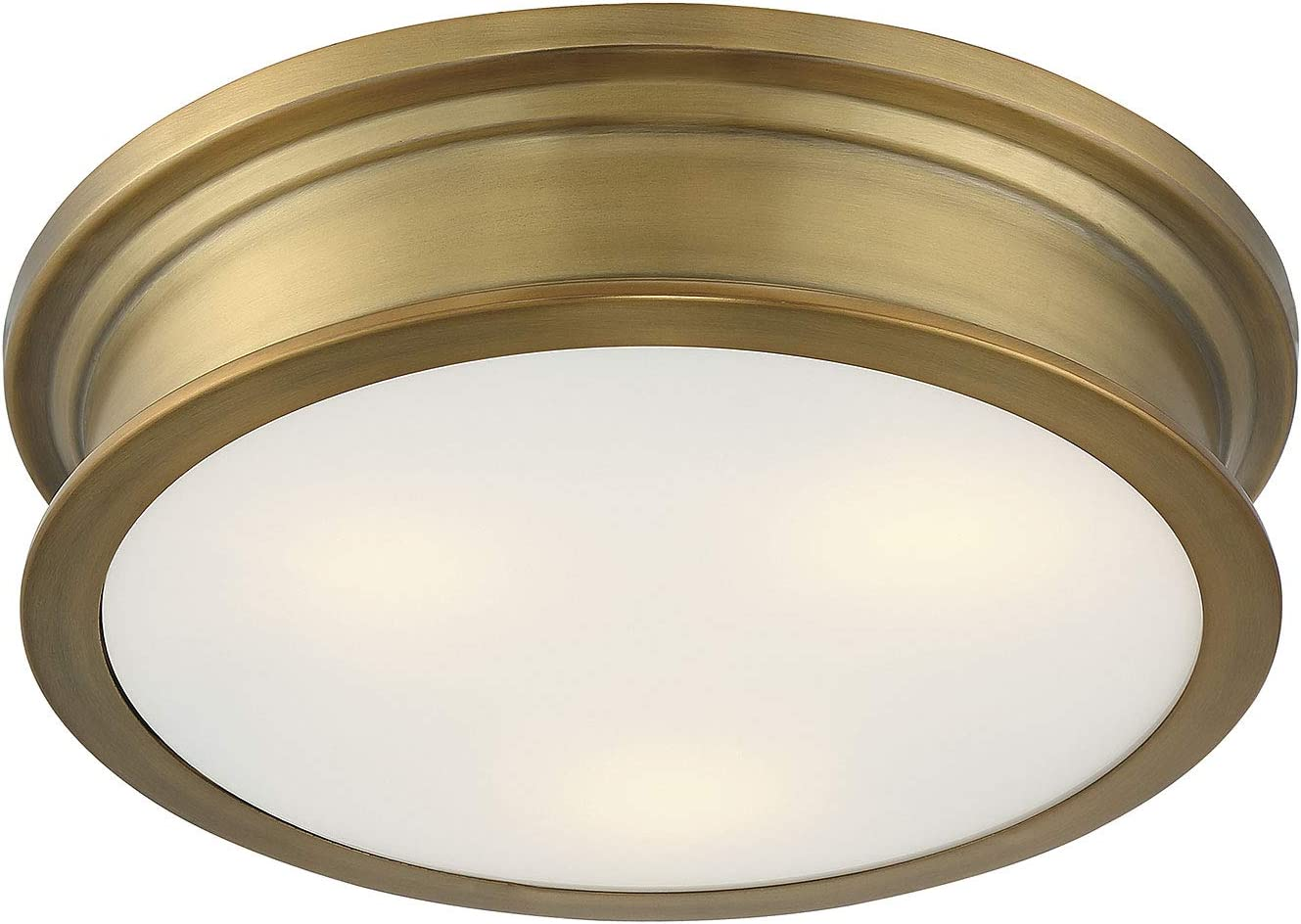 "Savoy House 6-133-16-322 Watkins Warm Brass Flush Mount (16"" W x 4""H)"