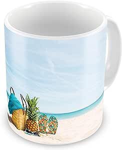 مج للقهوة والشاي طباعة حرارية، شاطئ البحر