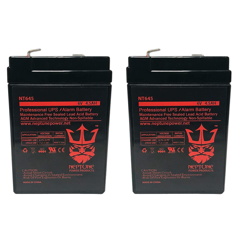 6 Volt 6v 4.5ah Rechargeable Deer Game Feeder Battery by Neptune - 2 Pack by Neptune Power