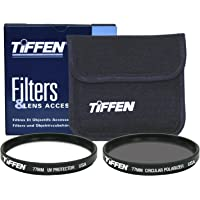 Tiffen 77mm Photo Twin Pack Polarizer and UV Protective Filter (Black)