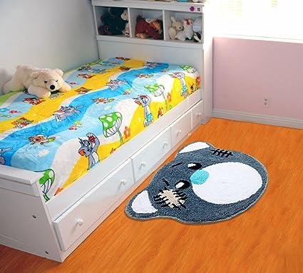 Saral Home Microfiber Anti Slip Bathmat (45x65cm, Grey)