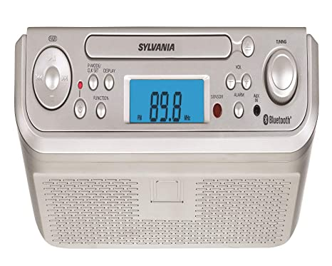 Amazon.com: Sylvania SKCR2713 Under Counter CD Player with Radio and on microwave under cabinet, radio cd under cabinet, antique pooley radio cabinet, kitchen cabinet radio cd player,