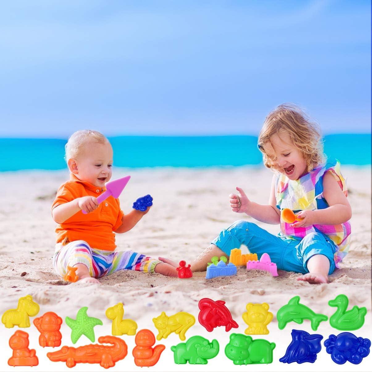 Mini Juguetes de Caja de Arena Kit de Construcci/ón de Castillos de Arena para Playa de Verano Color Aleatorio TOYANDONA 27 Piezas de Juguetes de Moldeo en Arena
