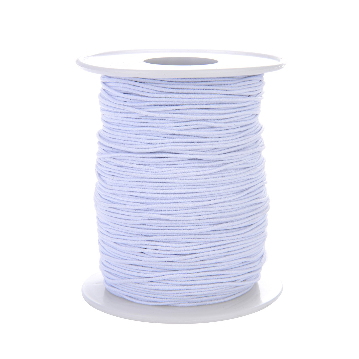 Tubala 0.8 mm Elastic Cord Stretch Thread Beading Cord Fabric Crafting Thread White Elastic String Jewelry Making Bracelet Beading Thread, 100 Meters 4336807133