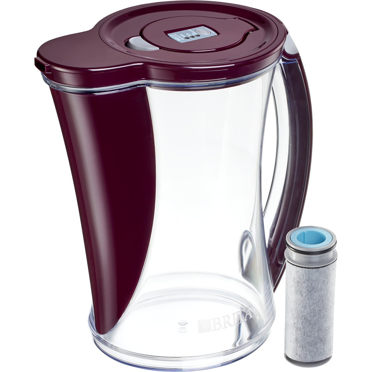 Brita 12 Cup Stream Filter As You Pour Water Pitcher with 1 Filter, Cascade - BPA Free – Bordeaux