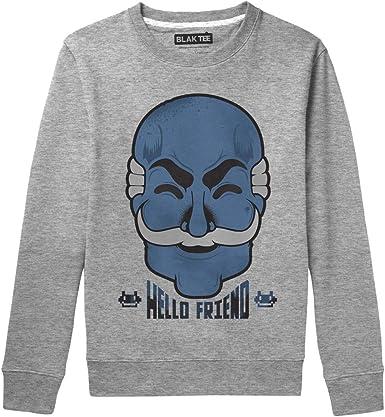 BLAK TEE Hombre Hello Friend Fsociety Vintage Mask Camisa De Entrenamiento: Amazon.es: Ropa y accesorios