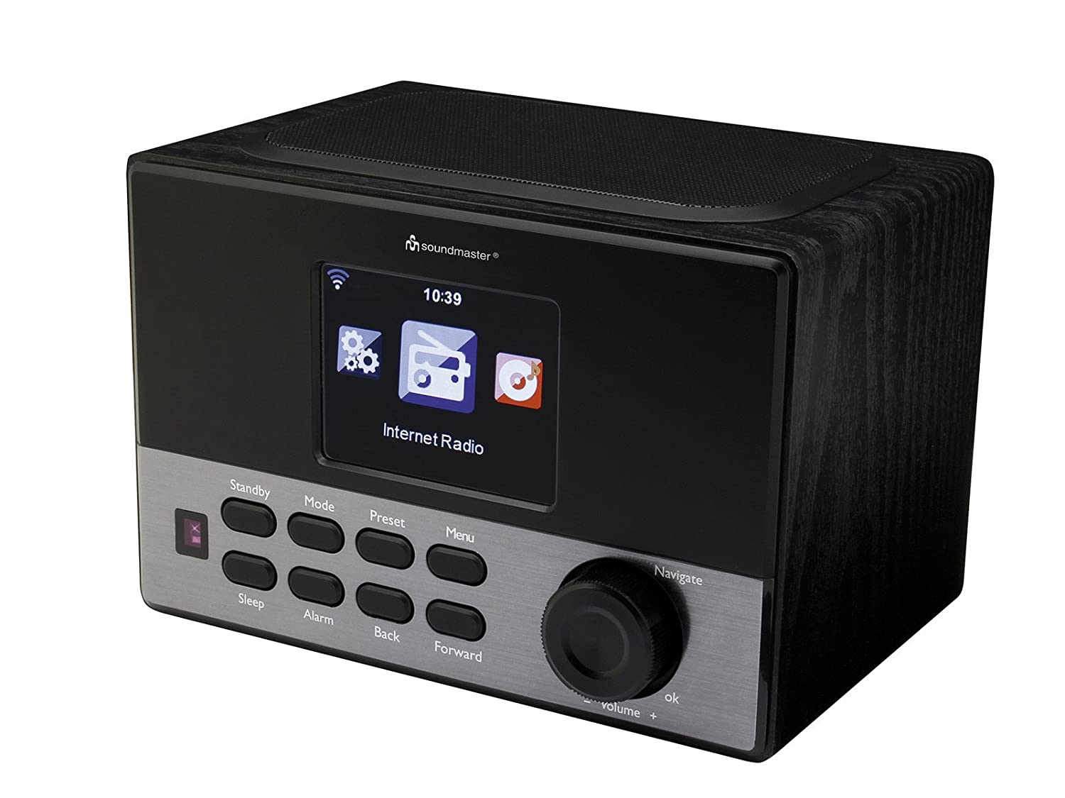 Soundmaster IR1100 Internet Noir – Radio Internet, batterie, MP3, WMA)