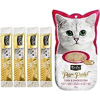 Kit-Cat Purr Puree Tuna & Smoked Fish Wet Cat Treat 4x15g