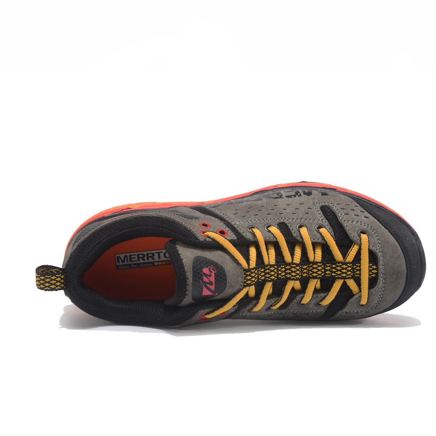 Qianling Collection Mens Outdoor Runners Trail Textile Sude Leather Trekking Running Shoe