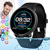 Peakfun Bluetooth Touch Screen Sports Fitness Watch with Heart Rate Blood Pressure Monitor