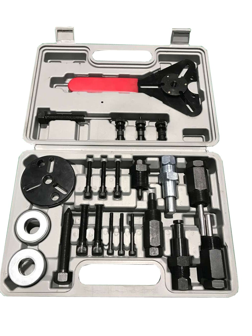 PMD Products 23pc A/C Deluxe Automotive Compressor Clutch Hub Remover Installer Puller Tool w/Spanner Air Conditioner AC
