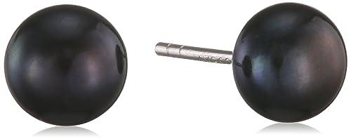 Valero Pearls Classic Collection Damen-Ohrstecker Hochwertige Süßwasser-Zuchtperlen in ca.  7 mm But...