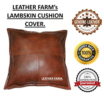 Strange Thick Genuine Leather Pillow Cover Tan Decorative For Couch Throw Pillow Case Tan Leather Cushion Cover Solid Color 16X16 Lamtechconsult Wood Chair Design Ideas Lamtechconsultcom