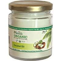 Farm Naturelle -100 % Pure Organic Extra-Virgin Cold Pressed Coconut Oil (Glass Bottle - 200 ml)