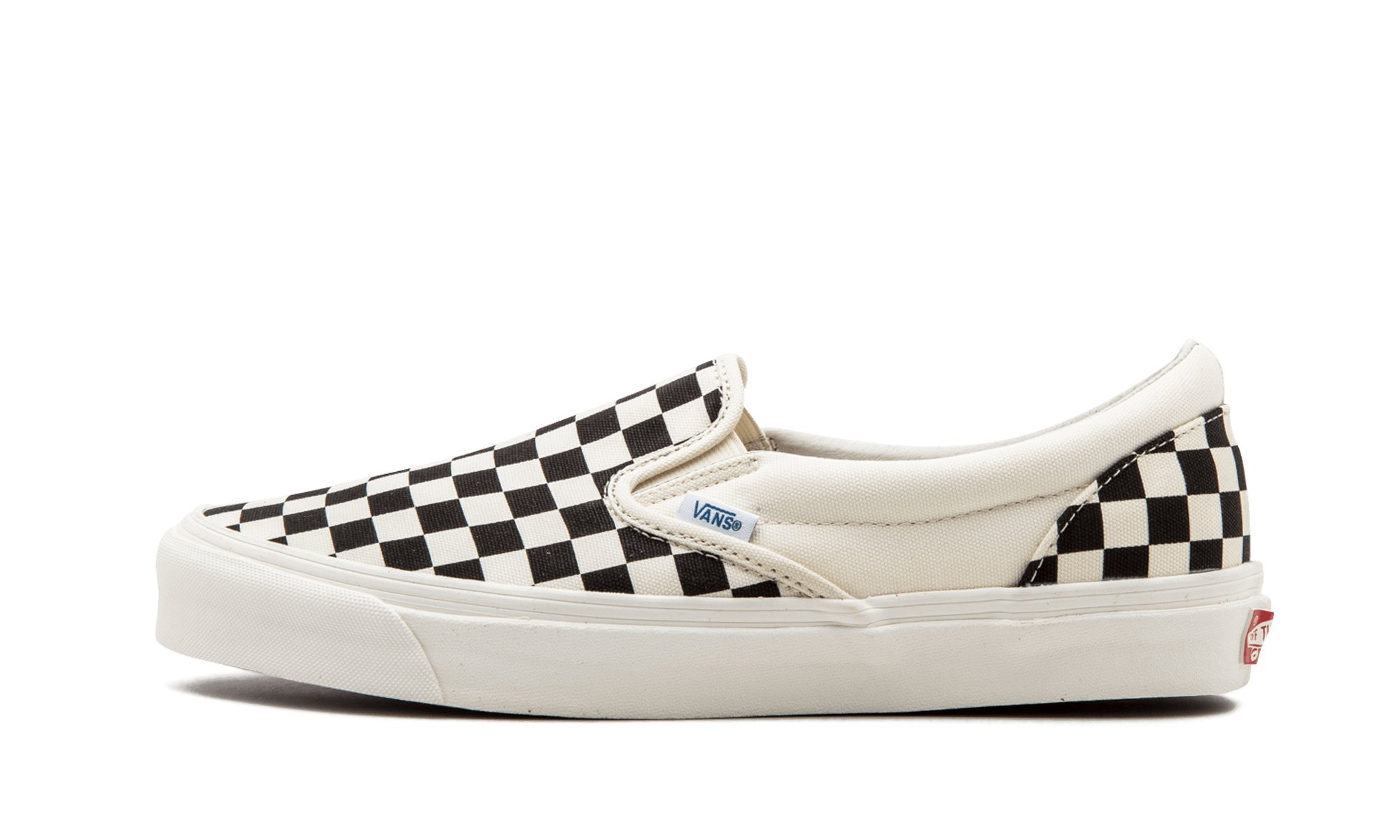 Vans Classic OG Classic Slip-On LX Sneakers VN000UDFF8L Black/White Checkerboard, 9.5 Mens / 11 Womens US