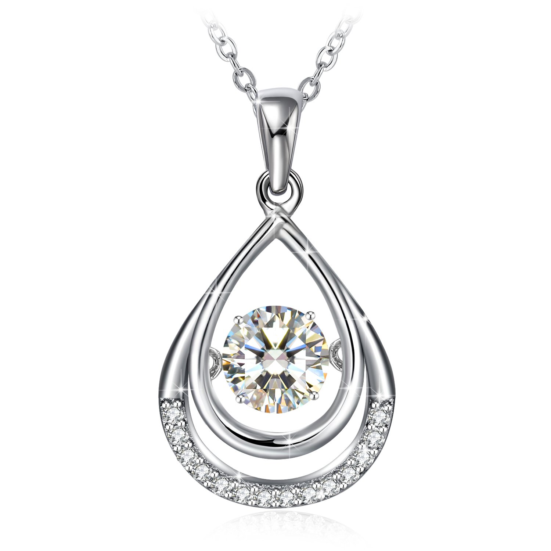 Silver Necklace for Women White Cubic Zirconia Drop Necklace Earrings GUNDULA Fine Jewelry Sterling Silver Earrings GD-CA-198
