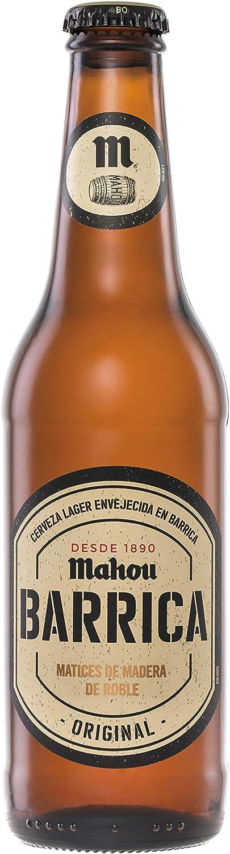Mahou Barrica Cerveza Envejecida Edición Original 6.1% Volumen de Alcohol - Pack de 12 x 33 cl: Amazon.es: Alimentación y bebidas