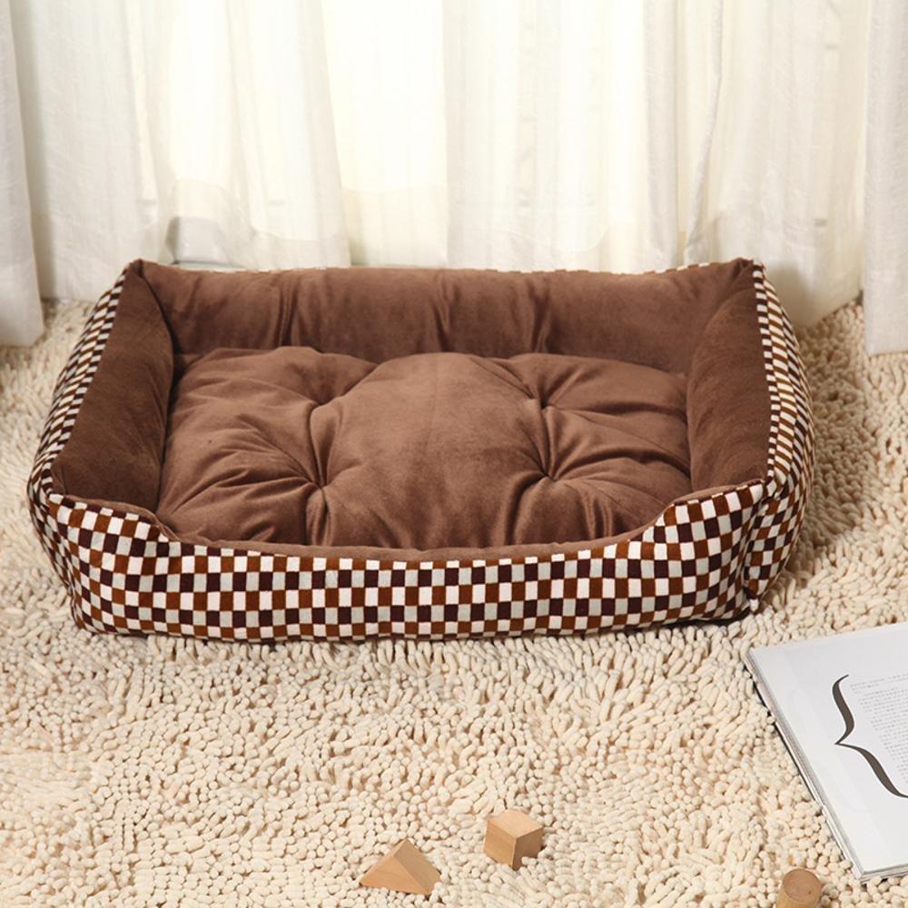 A Desti Flakes Pet Bolster Dog Bed Comfort Kennel Big Dog pet nest (color   A)