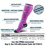 HLTPRO Compression Socks for Men and Women - Best