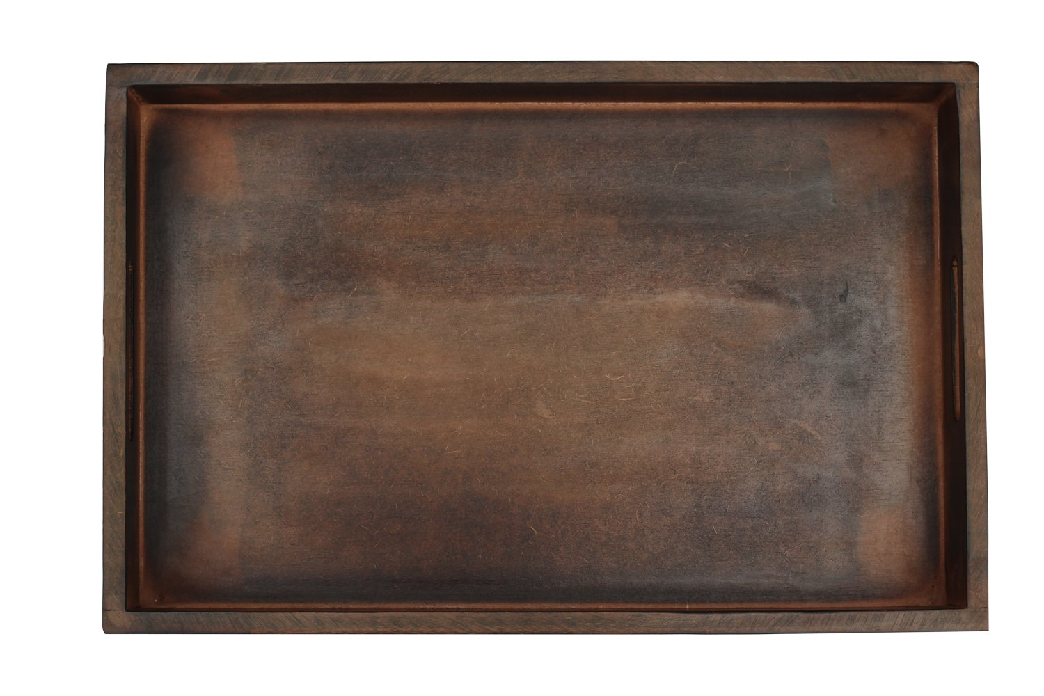 SouvNear Wooden Serving Handles - 17 x 11 Inches Large Dark Brown - Decorative Vintage Look Service Tea, Coffee, Breakfast Trays by SouvNear (Image #5)