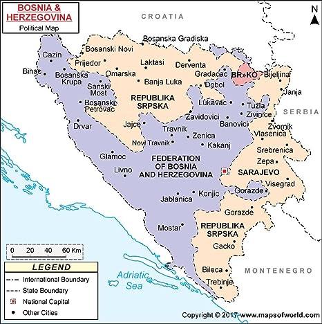 Serbia Bosnia Map Stock Photos & Serbia Bosnia Map Stock ...
