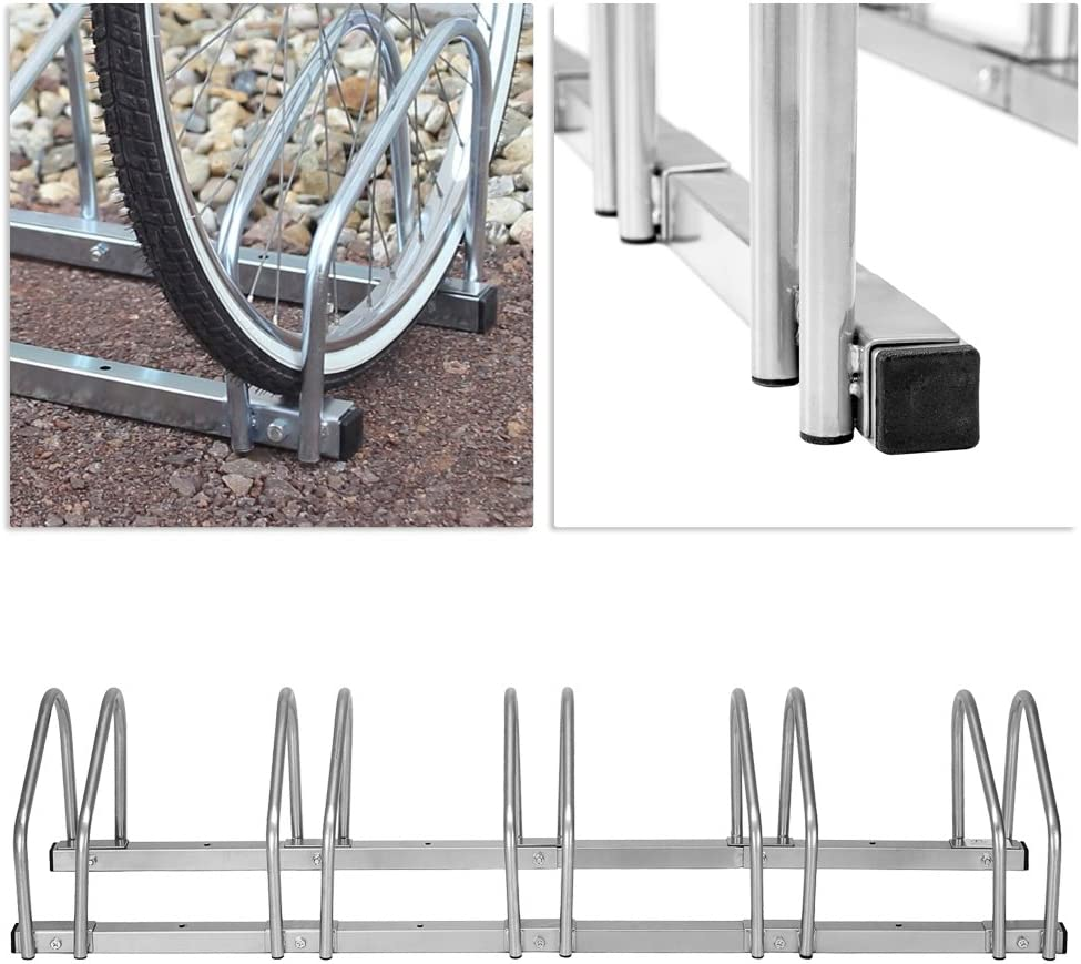 LARS360 Bicycle Stand for 6 Bikes Suit For Floor and Wall Mounting Twin Stand Bicycle Stand Bicycle Rack