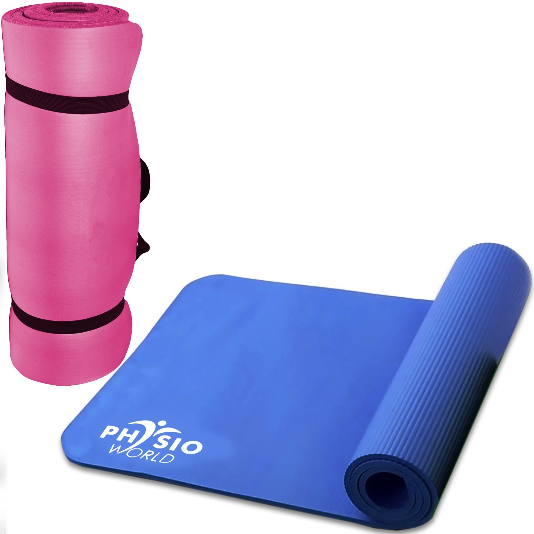 Physio World Thick Exercise Mat - 15mm Pink by phy (Image #2)