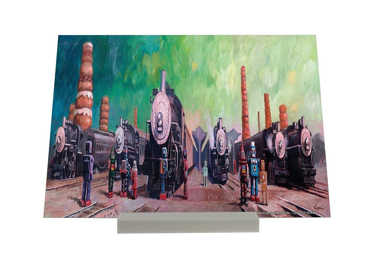 Soporte Fotografias Motivos De Fantasía Locomotoras Letrero: Amazon.es: Hogar