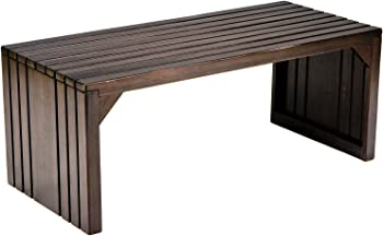 SEI Slatted Sitting Bench/Coffee Table