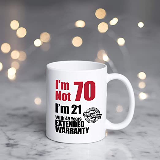 Taza de café divertida para 70 años de edad, regalo de 70 ...