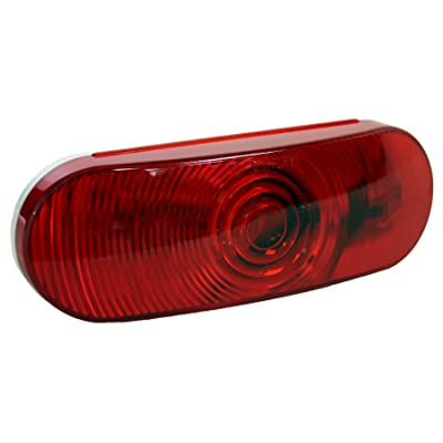 """Blazer International Trailer & Towing Accessories B85R Red 6"""" Oval Stop/Tail/Turn - Light Only, 1 Pack"""