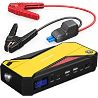 DBPOWER 800A Peak 18000mAh Portable Car Jump Starter (up to 7.2L Gas/5.5L Diesel Engine) Portable Battery Booster with LCD Screen (Yellow)