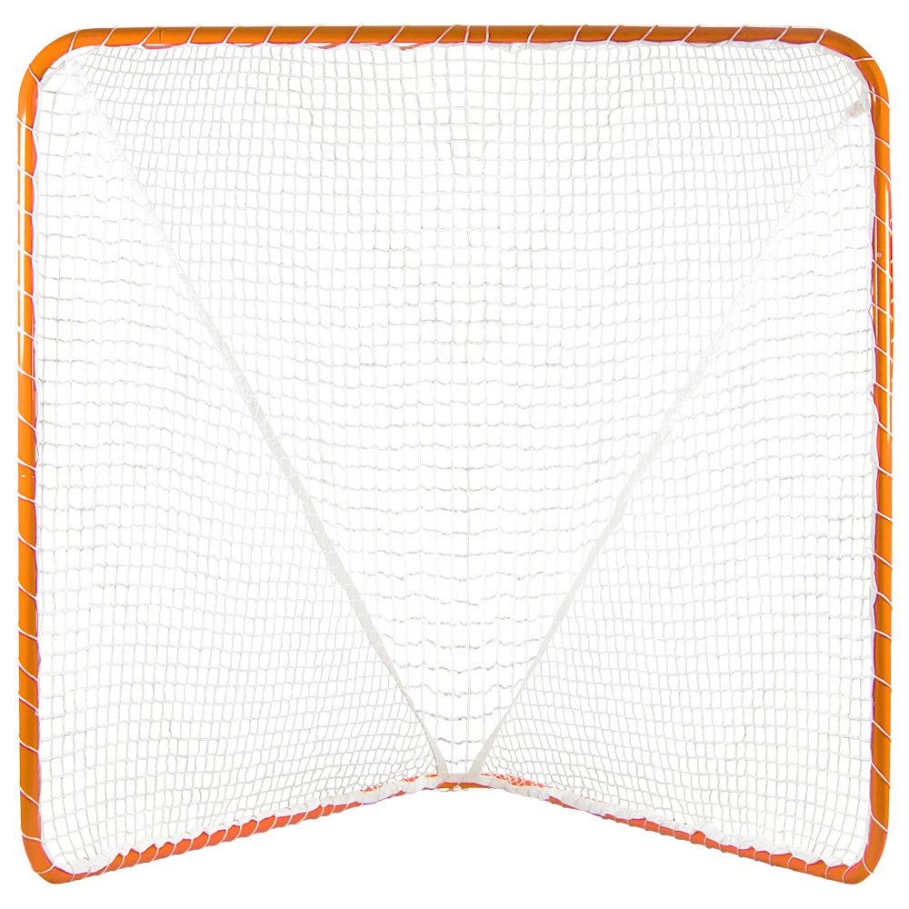Portable Official Size Orange Lacrosse Goal - Large 6 x 6 x 7 Foot Size! by Brybelly (Image #1)
