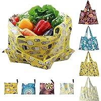 GiraVic 4 Pcs 58*40cm Grande Oxford Bolsas Ecológicas para Supermercado Plegable, Bolsas de Compra Frutas y Verduras…