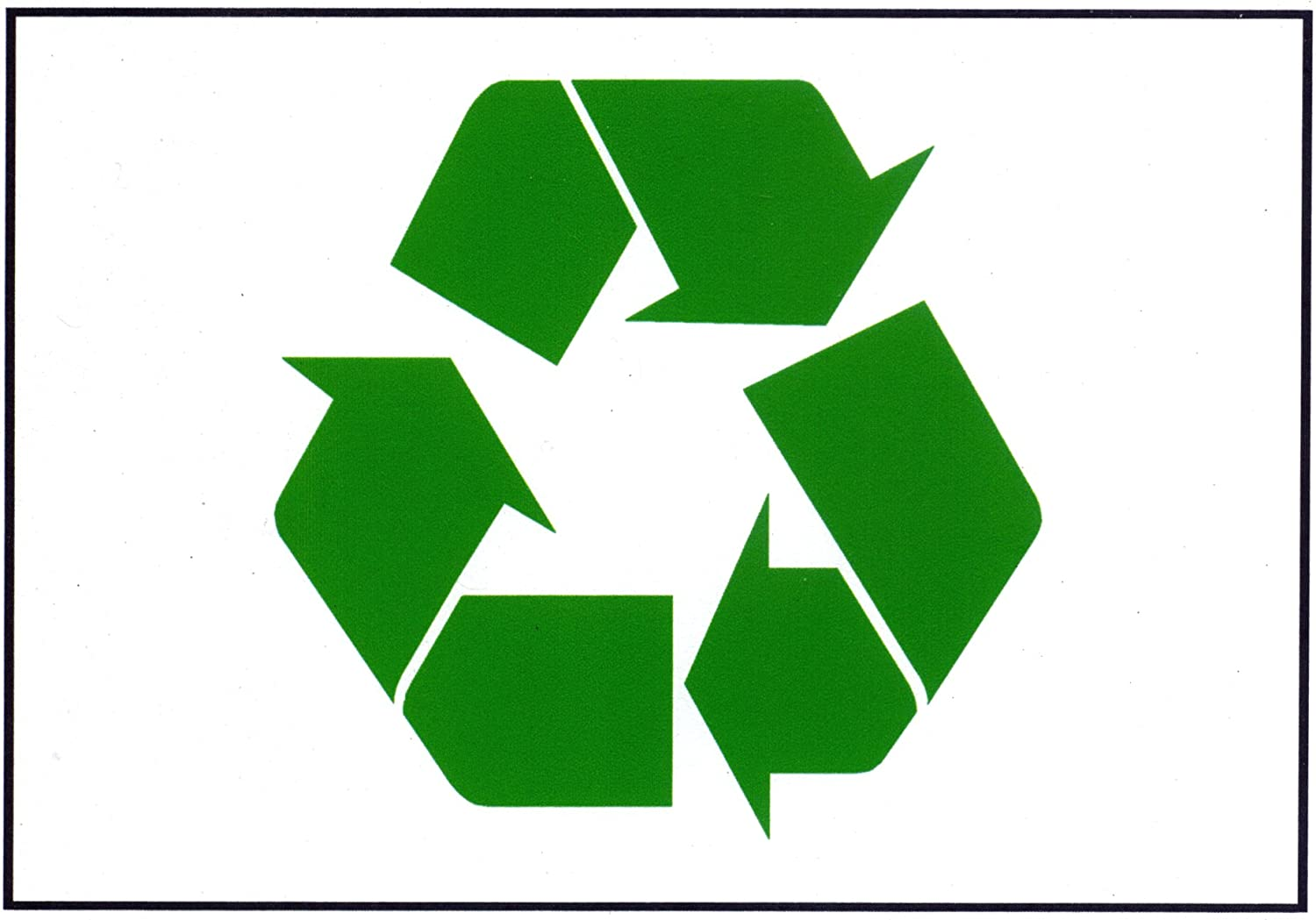 Amazon Green Recycle Symbol Flexible Magnetic Sign 75 X 1075