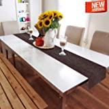 HOKIPO® PVC Table Runner for Dining Table, 30 x 180 cm, Maroon