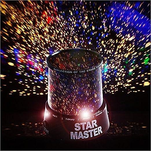 Rainbow Fox LED Luz nocturna con proyector de Estrellas: Amazon.es ...