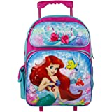 "Disney The Little Mermaid Pink 16"" Rolling Backpack"