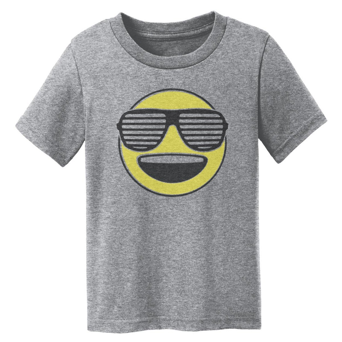 Digital T-Shirt Shop Baby-girls Cool Happy Emoji with Sunglasses