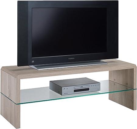 Presto mobilia 11107 Ulan 25 - Mesa para TV (Madera de Roble, 110 x 40 x 40 cm): Amazon.es: Hogar