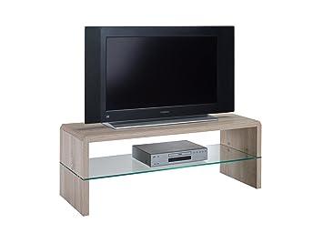 presto mobilia 11107 ulan25 meuble tv chne sonoma clair 110 x 40 x 40 cm